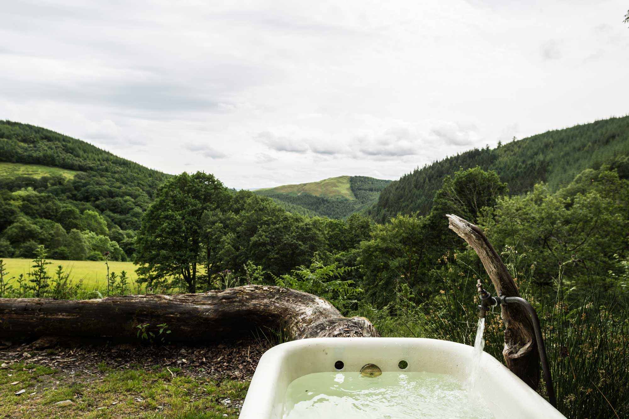 Yurt with amazing views down over the valley