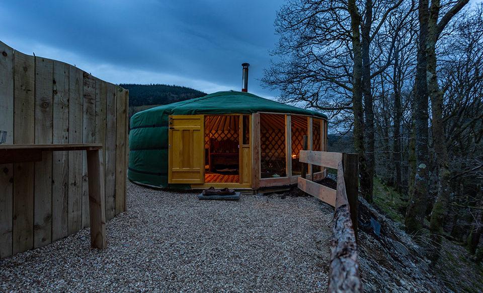 Mongolian yurts in Wales