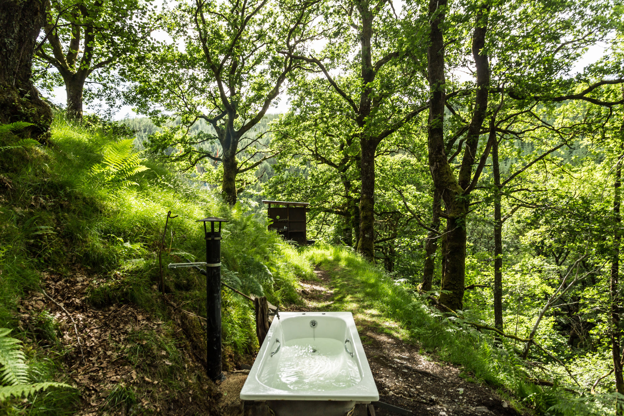 Waterfall-yurt-bath