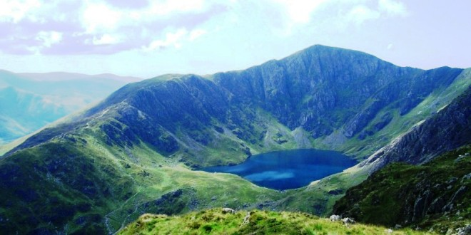 One of the lakes of Cadair Idris.
