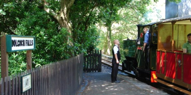 The Talyllyn Steam Railway will take you on a beautiful journey past the Dolgoch Falls.